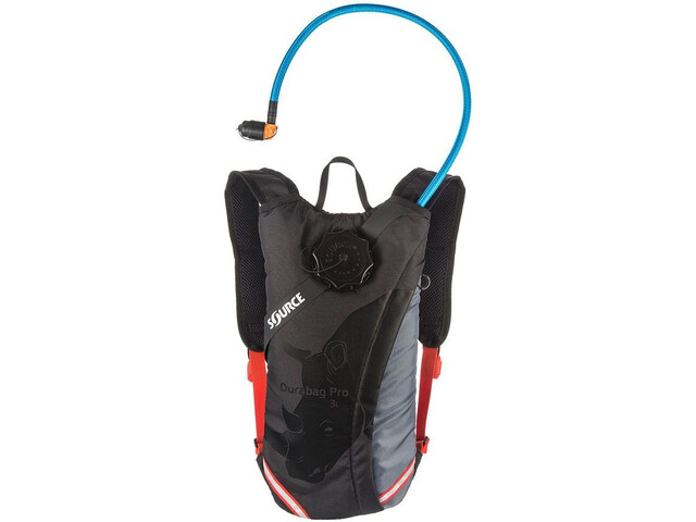 SOURCE Durabag Pro Pack Hidratación 3l, gris/negro